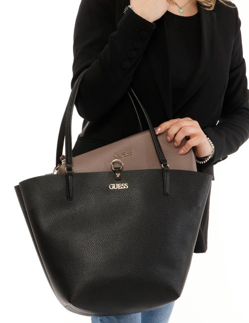 Borsa Guess in ecopelle - Nero