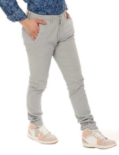 Pantalone  Asquani con logo inciso - Grigio