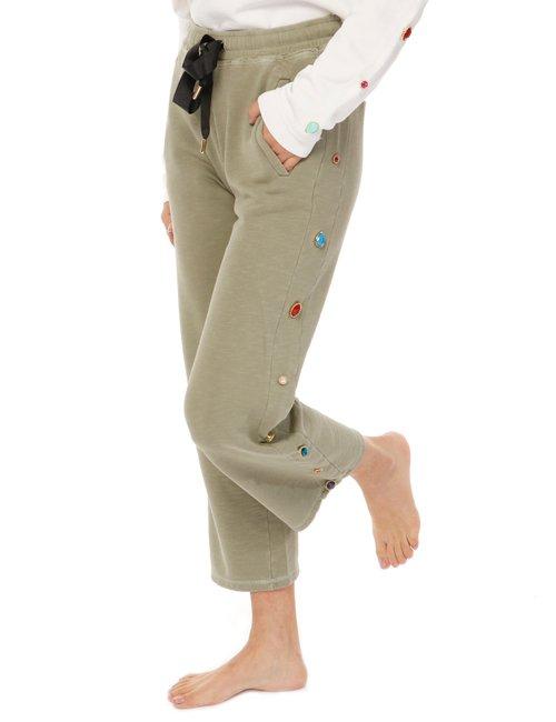 Pantalone  Imperfect con inserti colorati - Verde