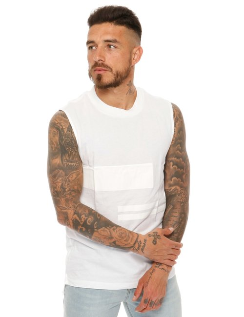 T-shirt Calvin Klein smanicata - Bianco