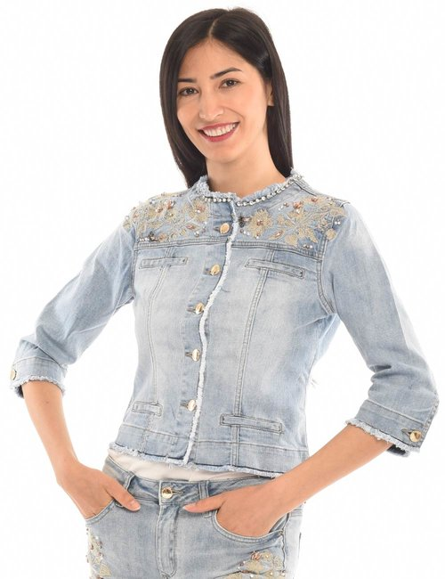 Giacca Yes Zee con ricami - Jeans