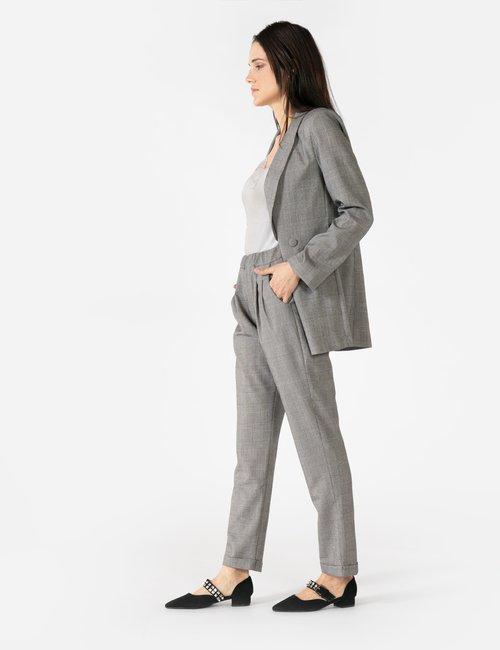 Pantalone Vougue con risvolto - Grigio