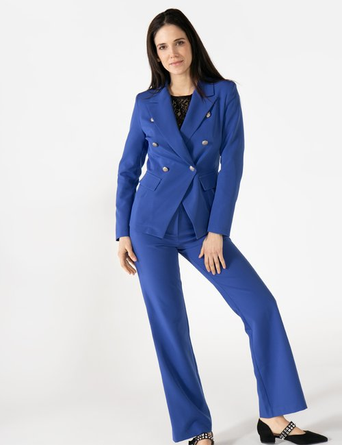 Blazer Vougue con bottoni decorati - Blu