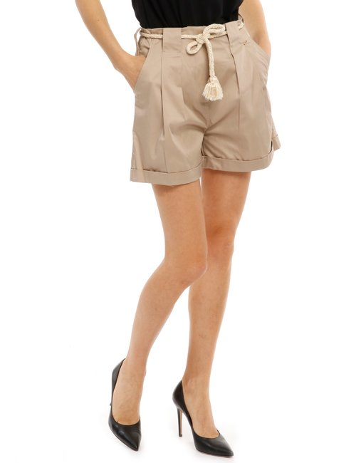 Shorts Yes Zee con risvolto - Beige