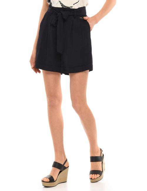 Shorts Yes Zee con cintura - Blu