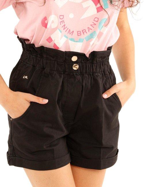 Shorts Yes Zee con tasche - Nero