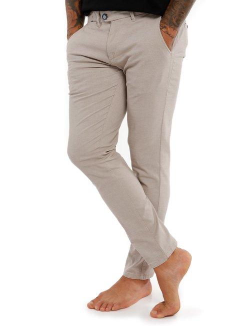 Pantalone Yes Zee slim fit - Beige