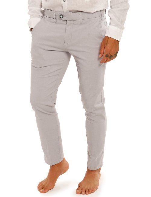 Pantalone Yes Zee slim fit - Grigio