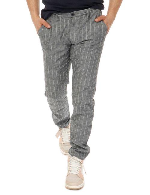 Pantalone  Yes zee con logo in pelle - Grigio