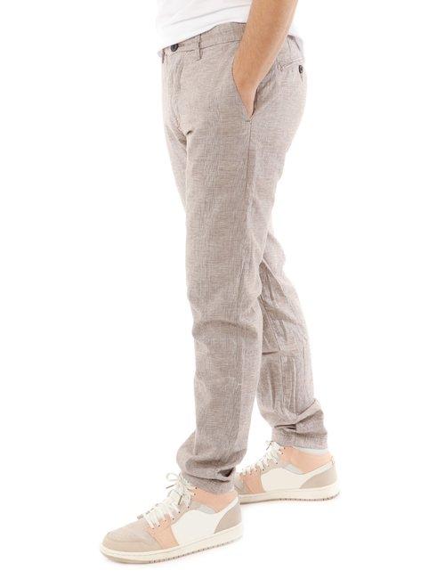 Pantalone Yes zee con logo in pelle - Marrone