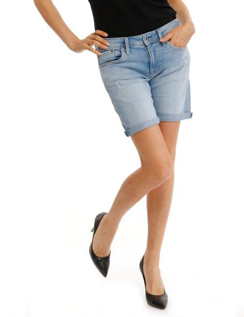Shorts Pepe jeans effetto consumato - Jeans