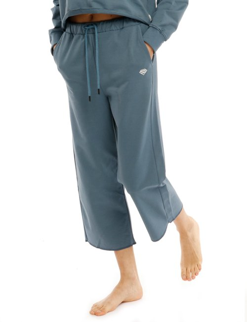 Pantalone Smiling London con orlo netto - Blu