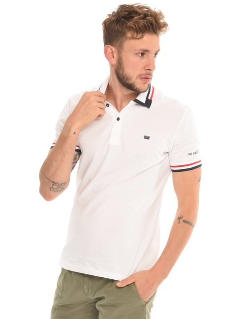 T-shirt Yes Zee con bordi a contrasto - Bianco