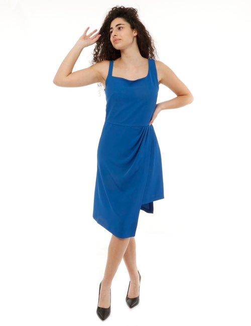 Vestito Vougue con spalle irregolari - Blu