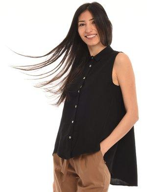 Camicia Vougue smanicata misto lino