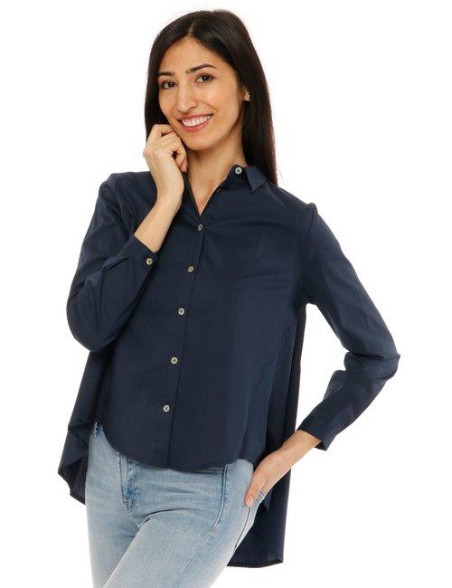 Camicia Vougue svasata - Blu