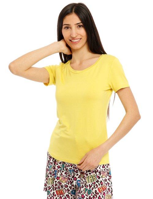 T-shirt Vougue basic - Giallo