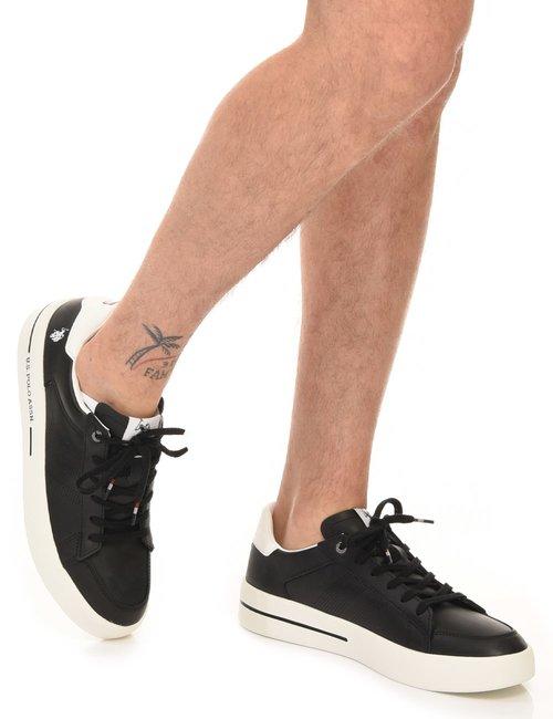 Sneaker U.S. Polo Assn. forata a lato - Nero