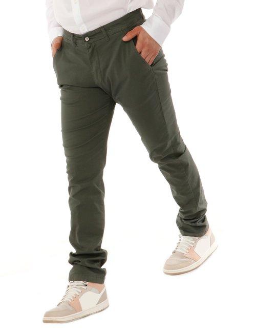 Pantalone Asquani con logo inciso - Verde