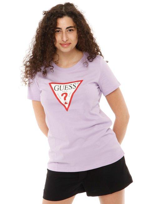T-shirt Guess con logo stampato - Lilla