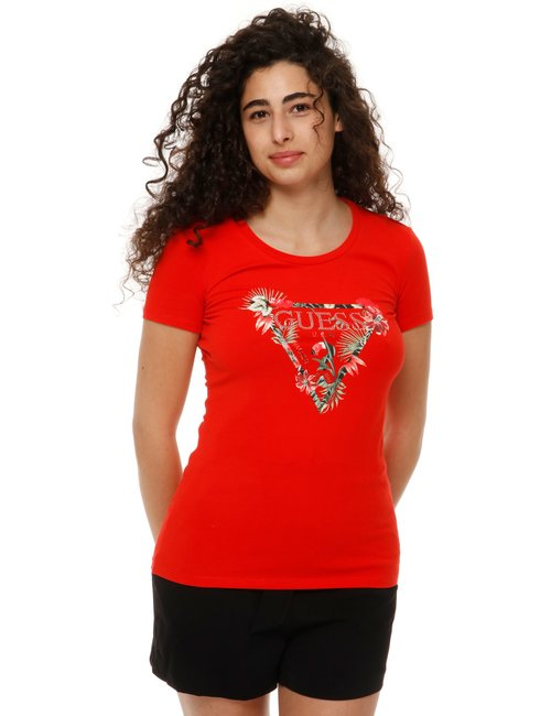 T-shirt Guess con logo stampato - Rosso