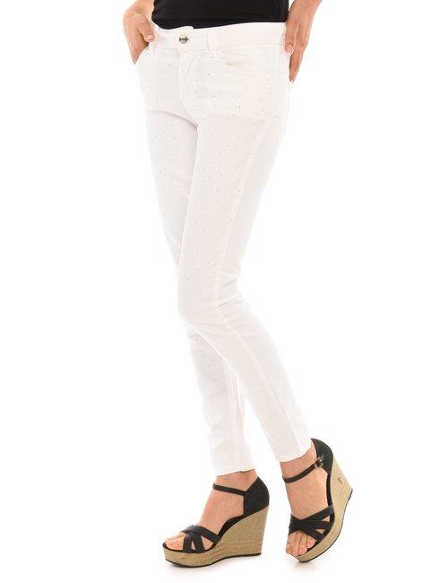 Jeans Liu Jo con strass - Bianco