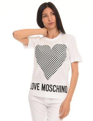 T-shirt Love Moschino stampa cuore