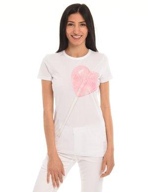 T-shirt Love Moschino stampa lollipop