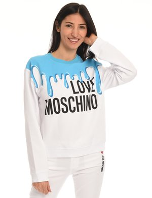 Felpa Love Moschino stampata
