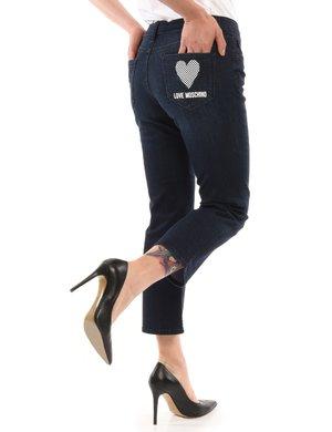 Jeans Love Moschino con tasca stampata