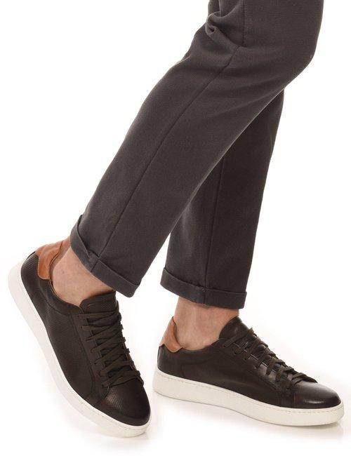 Sneaker Cafè Noir con dettaglio a contrasto - Marrone