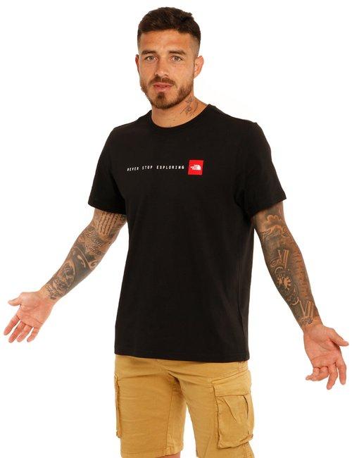 T-shirt The North Face con scritta - Nero