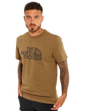 T-shirt The North Face logo wood