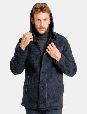 Cappotto Fred Mello con zip e bottoni