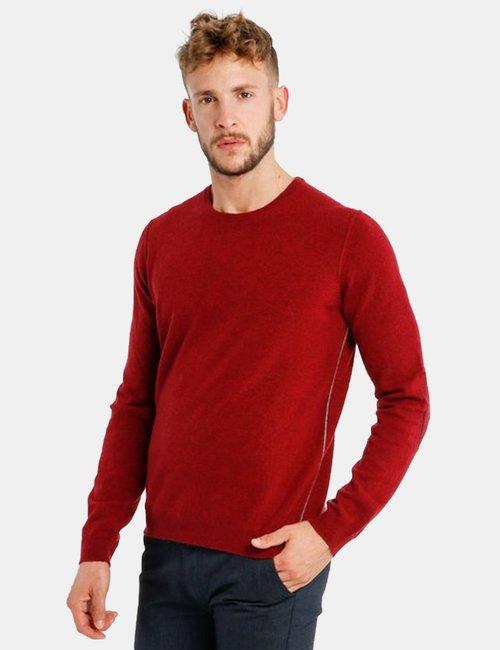 Maglione Fred Mello girocollo - Rosso