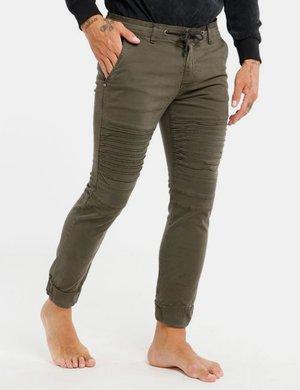 Jeans Berna con coulisse e zip