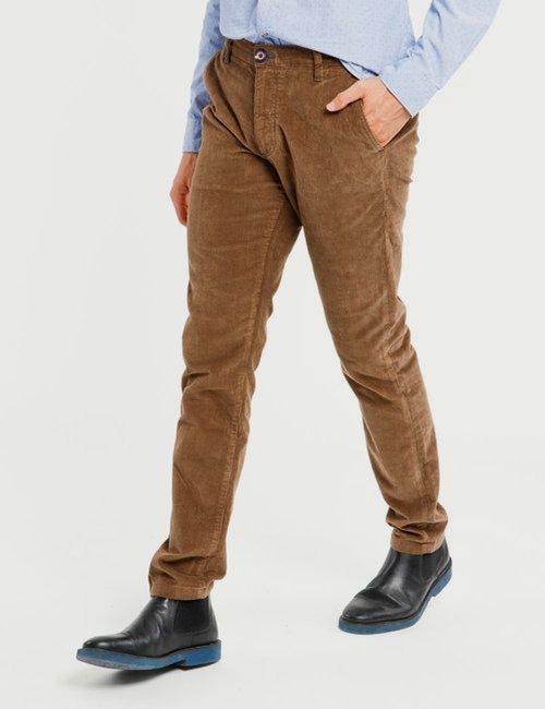 Pantalone Fred Mello a coste - Marrone