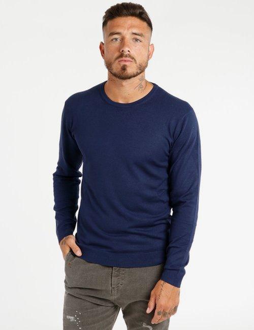 Maglione Berna girocollo - Blu