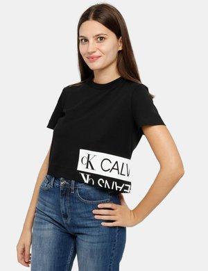 T-shirt Calvin Klein cropped