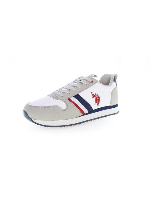 Sneaker U.S. Polo Assn. Con bande laterali - Bianco