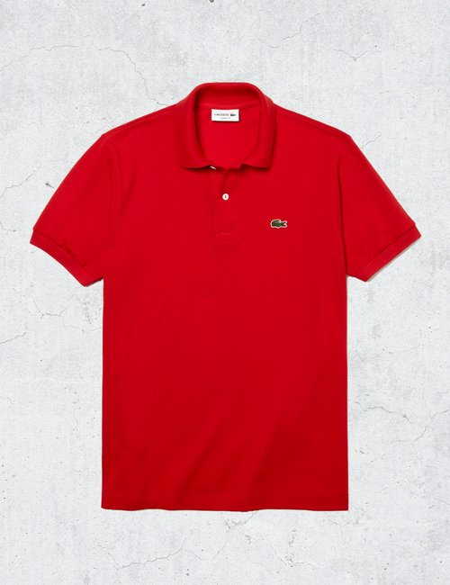 Polo Lacoste classic fit - Rosso