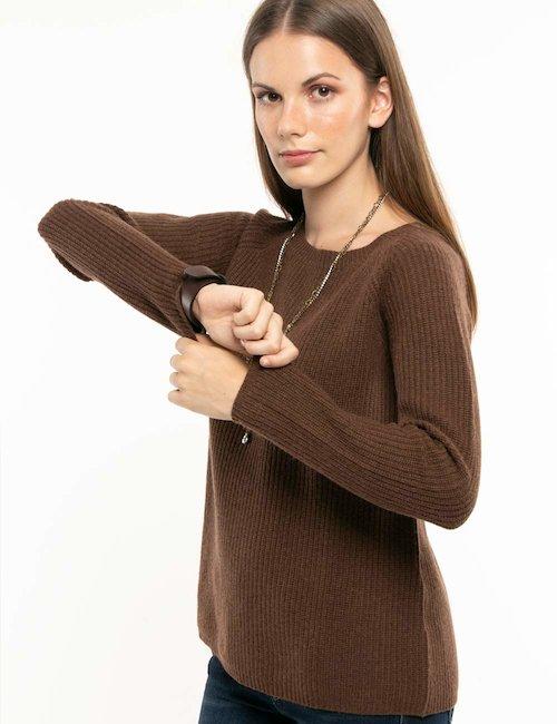 Vero Moda Pullover Taglia XL 42 Bordeaux Melange Maglione Viscosa Manica Lunga Nuovo