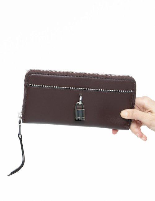 Portafoglio Guess in pelle con tasca esterna - Bordeaux