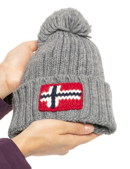 Cappello Napapijri con bandiera lavorata a maglia - Grigio
