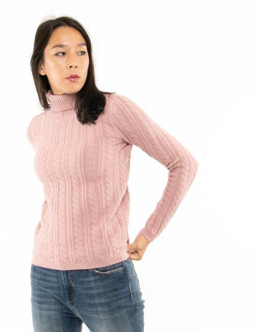 Maglione Maison du Cachemire con intreccio - Rosa