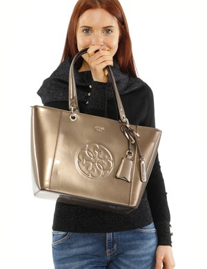 Borsa Guess con logo in rilievo