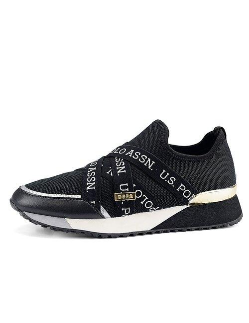 Sneaker U.S. Polo Assn. con elastici - Nero
