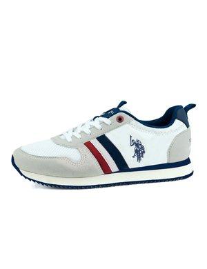 Sneaker U.S. Polo Assn. con bande laterali