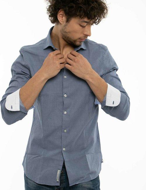 Camicia Yes Zee con motivo geometrico - Blue_Pearl