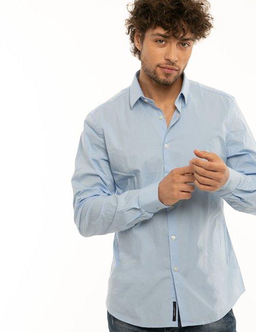 Camicia Yes Zee in cotone - Azzurro